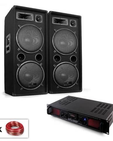 "Electronic-Star PA Set ""Malone SPL Bluetooth MP3"" pár 2x12"" reproduktor & zosilňovač 1500W"