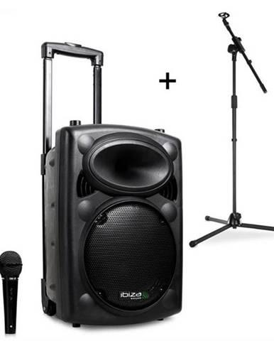 Ibiza Port8VHF-BT, mobilný PA reproduktor, bluetooth, USB, SD, 200 W, RMS, mikrofónový stojan