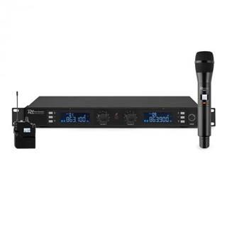 Power Dynamics PD632C 2X, 20-kanálová sada UHF bezdrôtových mikrofónov, 1 x ručný/1 x headset mikrofón