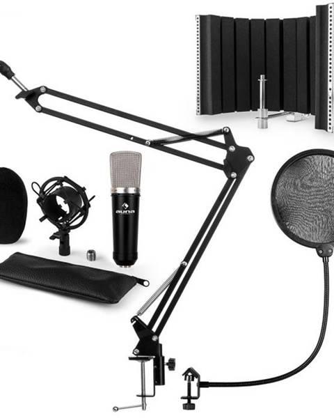 Auna Auna CMO003 V5, čierna, mikrofónová sada, kondenzátorový mikrofón, mikrofónové rameno, XLR
