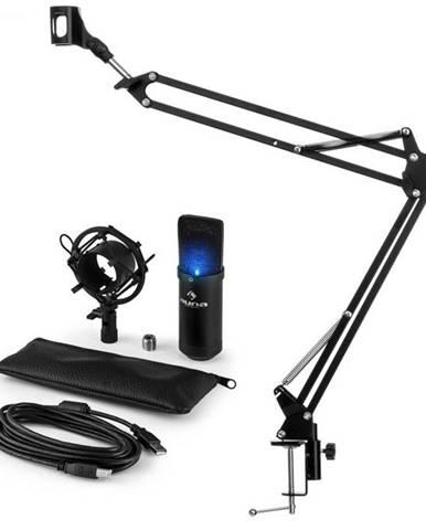 Auna MIC-900B-LED USB mikrofónová sada V3 kondenzátorový mikrofón + mikrofónové rameno LED