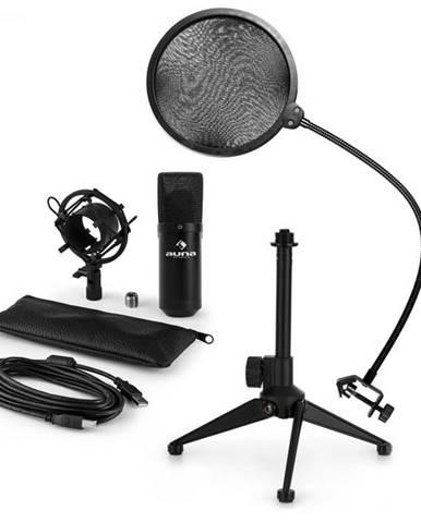 Auna MIC-900B V2, USB mikrofónová sada, kondenzátorový mikrofón + pop-filter + stolný statív