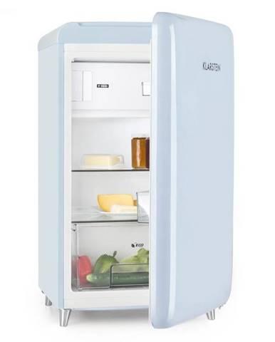 Klarstein PopArt Blue, retro chladnička A++, 108 l / 13 l mraziarenský priestor, modrá