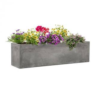 Blumfeldt Solidflor, kvetináč, 75 x 20 x 20 cm, sklolaminát, do interiéru aj exteriéru, svetlosivý