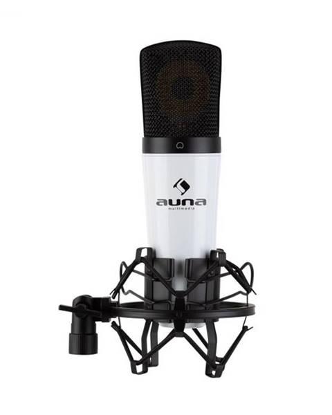 Auna Auna Pro MIC-920 USB, kondenzátorový mikrofón, USB, slúchadlový výstup, plug & play, biely