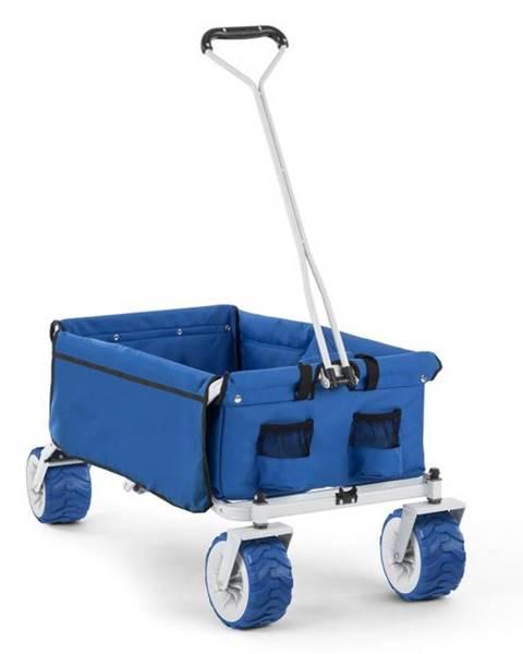 Waldbeck Waldbeck The Blue, ručný vozík, skladací, 70 kg, 90 l, kolesá Ø 10 cm, modrý