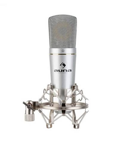 Auna Pro MIC-920 USB, kondenzátorový mikrofón, USB, slúchadlový výstup, plug & play, strieborný