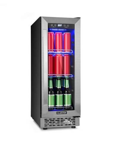 Klarstein Beerlager 56, chladnička na nápoje, 56 l, 20 fliaš, energetická trieda A, ušľachtilá oceľ, čierna