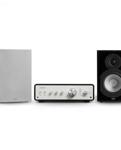 Numan Drive 802, stereo sada, stereo zosilňovač, regálový reproduktor, čierna/sivá