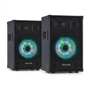 "Fenton TL10LED, pár 3-cestných pasívnych reproduktorov, RGB-LED, 10"" Woofer, 500 W tweeter"