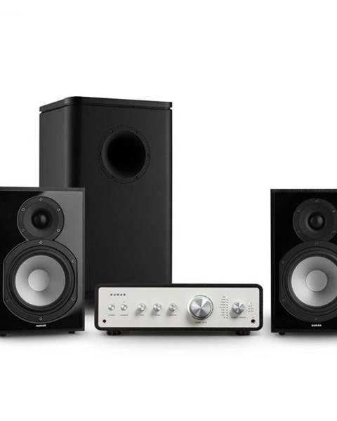 Numan Numan Drive 802, stereo sada, zosilňovač, regálový reproduktor, subwoofer, čierna