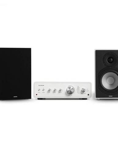 Numan Drive 802, stereo sada, stereo zosilňovač, regálový reproduktor, biela/čierna