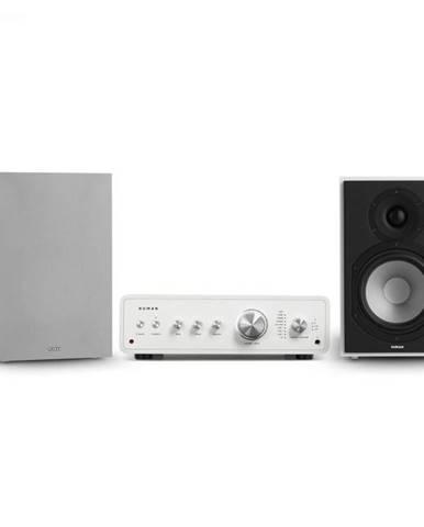 Numan Drive 802, stereo sada, stereo zosilňovač, regálový reproduktor, biela/sivá