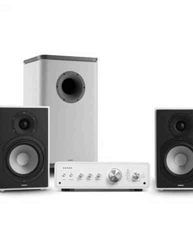 Numan Drive 802, stereo sada, zosilňovač, regálový reproduktor, subwoofer, BT 5.0, biela