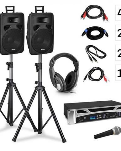 Vonyx Singapore, DJ systém – sada, PA zosilňovač 2 x 500 W, 2 x 2-pásmový reproduktor