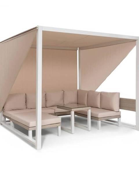 Blumfeldt Blumfeldt Havana, pavilón & Lounge-Set, 270x230x270cm, 4 dvojsedadlá, biely