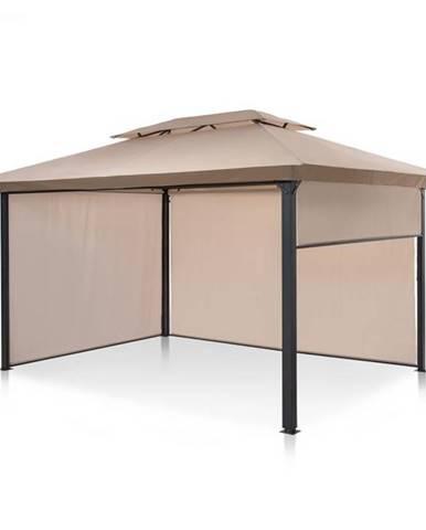Blumfeldt Grandezza Cortina, záhradný pavilón, 3 x 4 m, 4 bočné diely, béžový