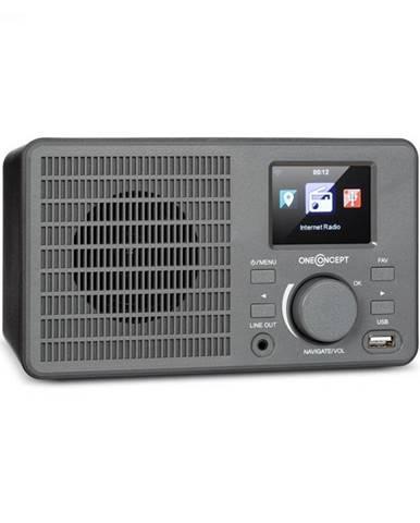 OneConcept TuneUp, internetové rádio, 5 W, WLAN, USB, HCC displej, linkový výstup, tmavosivé