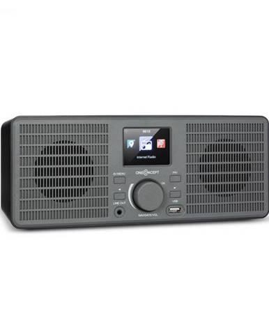 OneConcept TuneUp ST, internetové rádio, 10 W, WLAN, USB, HCC, linkový výstup, tmavosivé