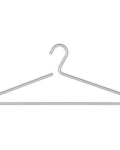 Hliníkový vešiak na oblečenie v striebornej farbe Wenko Lux