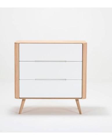 Komoda so zásuvkami z dubového dreva Gazzda Ena One, 90×42×90 cm
