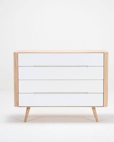 Komoda so zásuvkami z dubového dreva Gazzda Ena Two, 120×42×90 cm