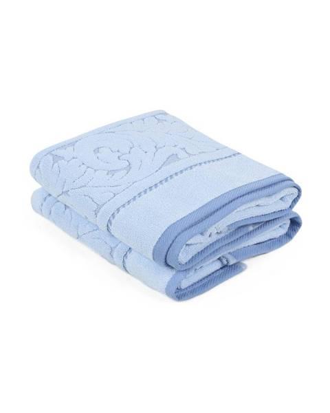 Hobby Sada 2 rmodrých uterákov z bavlny Sultan, 50×90 cm