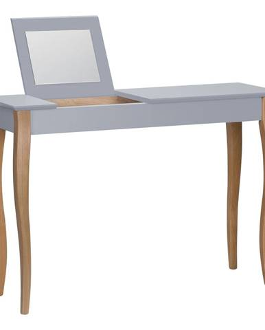 Tmavosivý toaletný stolík sozrkadlom Ragaba Dressing Table,dĺžka105cm