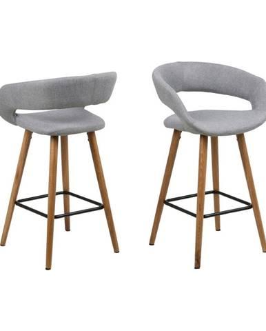 Sada 2 sivých barových stoličiek Actona Gill