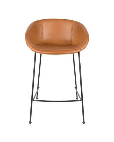 Sada 2 hnedých barových stoličiek Zuiver Feston, výška sedu 76 cm