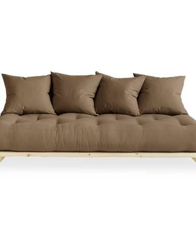 Pohovka s hnedým poťahom Karup Design Senza Natural/Mocca