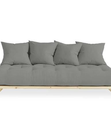 Pohovka so sivým poťahom Karup Design Senza Natural/Grey