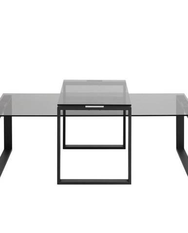 Sada 2 konferenčných stolíkov so sklenenou doskou Actona Katrine