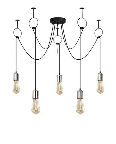 Čierne závesné svietidlo pre 5 žiaroviek Opviq lights Sirin