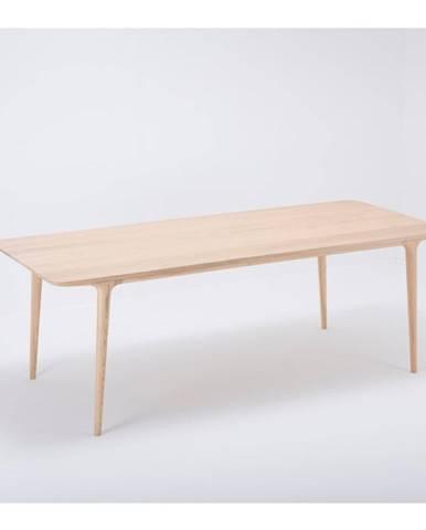 Jedálenský stôl z masívneho dubového dreva Gazzda Fawn, 220×90cm