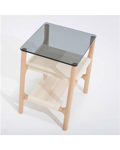 Odkladací stolík z masívneho dubového dreva Gazzda Fawn