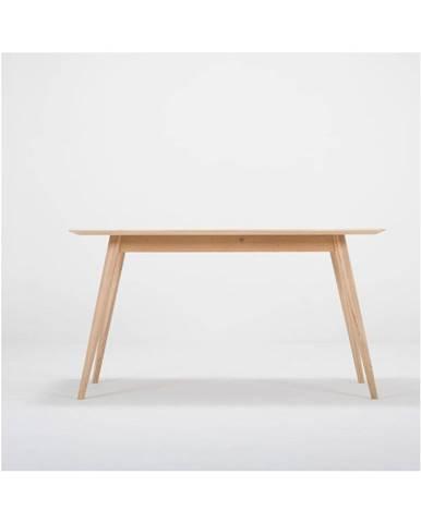 Pracovný stôl z masívneho dubového dreva Gazzda Stafa