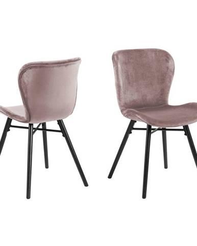 Pudrovoružová jedálenská stolička Actona Batilda