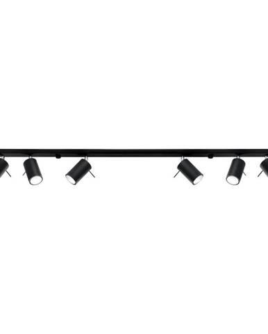 Čierne stropné svietidlo Sollux Etna 6L