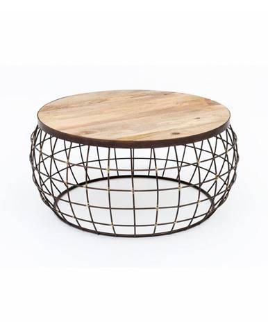 Konferenčný stolík so železnou konštrukciou WOOX LIVING Nest, ⌀ 74 cm