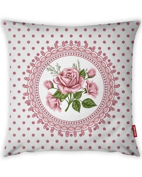 Vitaus Obliečka na vankúš Vitaus Rustic Vintage Rosa Tres, 43×43 cm