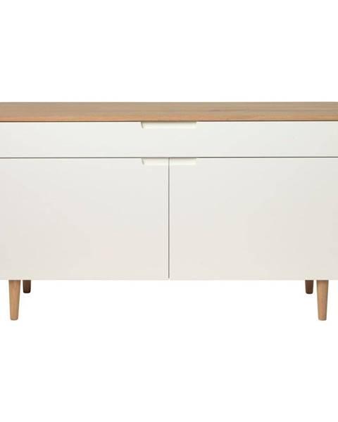 Unique Furniture Nízka komoda z dreva bieleho duba Unique Furniture Amalfi
