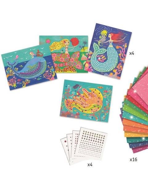 Djeco Trblietavé mozaikové obrázky s diamantmi Djeco Morská panna