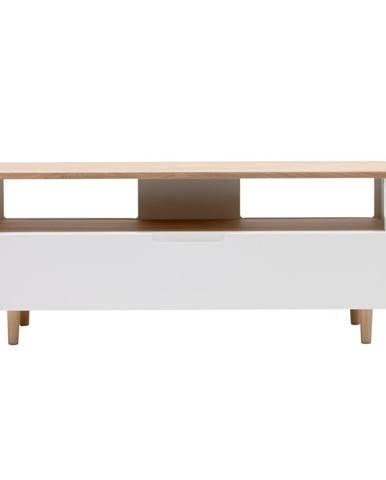 TV stolík z dreva bieleho duba Unique Furniture Amalfi