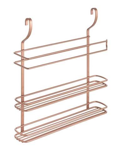 Závesná polička s troma poschodiami Metaltex Copper
