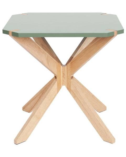 Leitmotiv Mätovozelený odkladací stolík Leitmotiv Mister, 45 x 45 cm
