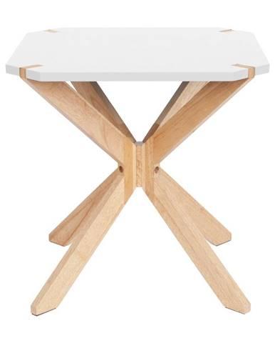 Biely odkladací stolík Leitmotiv Mister, 45 x 45 cm