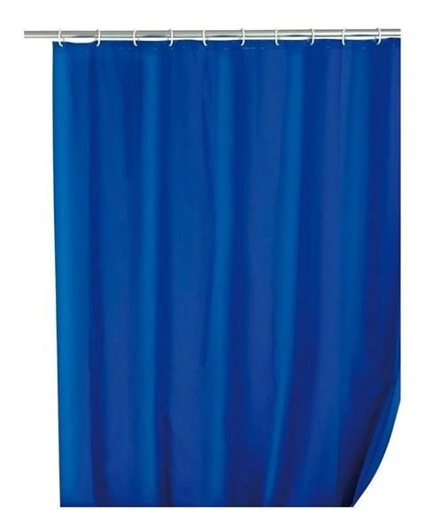Wenko Modrý sprchový záves Wenko Simpler, 180 x 200 cm