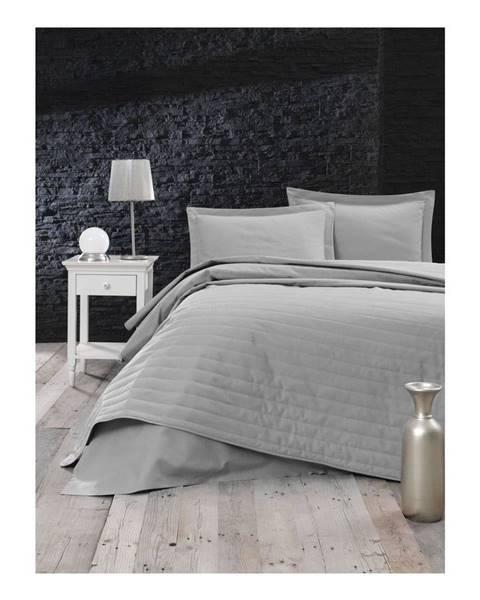 Mijolnir Sivý ľahký prešívaný pléd Mijolnir Monart, 220 × 240 cm