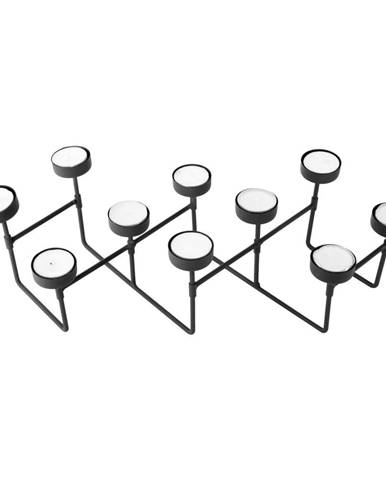 Čierny stojan na čajové sviečky PT LIVING Harmonica
